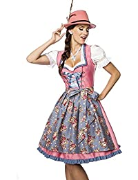 Marco Porta Dirndl mit Sch/ürze Trachtenmode Oktoberfest Trachtenkleid Trachten Damendirndl L