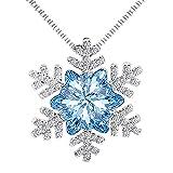 Findout Cristal azul de las señoras el copo de nieve cúbico de Zircons destella el collar pendiente .for las mujeres niños de las muchachas. (F1741)