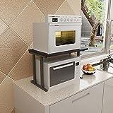 XING ZI Shelf C-K-P Blanco Y Negro Moderna Multi-Funcional Y Práctico Microondas Estante Horno De Carro Cocina Especia De Almacenamiento En Rack De Metal (Color : D)