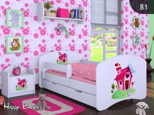 Verschiedene Motive Weiss NEU 140x70cm mit Schublade, BLAUER B/ÄR HB Kinderbett mit Matratze und Bettkasten
