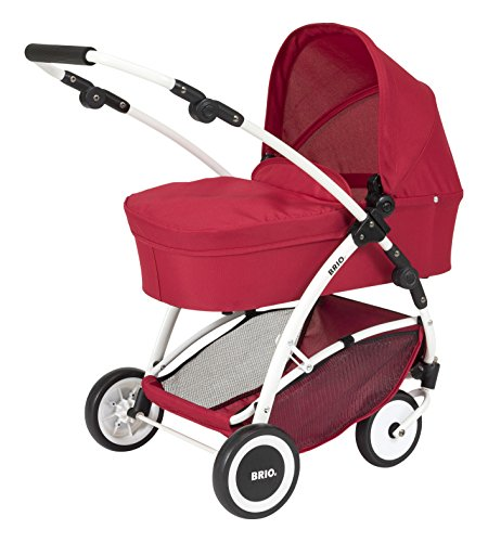Preisvergleich Produktbild BRIO 24900000 - Puppenwagen Spin rot mit Schwenkrädern