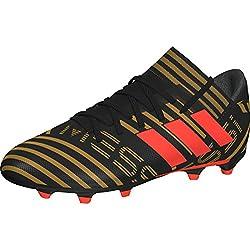 Adidas Nemeziz Messi 17.3 FG J, Botas de fútbol Unisex niño, Negro (Negbas/Rojsol/Ormetr 000), 36 EU