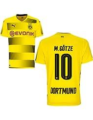 Puma BVB Borussia Dortmund Home Trikot 2017 2018 Heimtrikot mit Spieler Name Farbe Götze, Größe 164