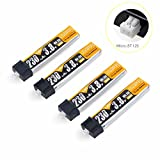 4pcs 1S Lipo Akku 230mAh HV 30C 3.8V Battery for Tiny Whoop Blade Inductrix Micro JST 1.25 Stecker by Crazepony-UK