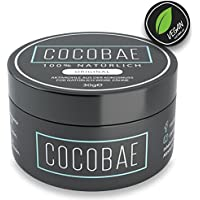 Premium Kokosnuss Zahnaufhellung COCOBAE - Bleaching 100% rein & vegan | Inklusive E-Book für Weisse Zähne & Anwendung | Whitening durch Aktivkohle Pulver aus der Kokosnuss|Hismile Effekt|NEUE FORMEL