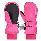 Andake 3M Thinsulate Extrem Warm Fäustlinge Winddicht Wasserfest Atmungsaktiv Thermo Handschuhe Winterhandschuhe kinderhandschuhe Skihandschuhe Outdoor Baby Kinder Jungen Mädchen 2-7 Jahre