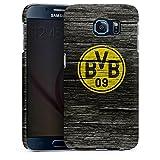 DeinDesign Samsung Galaxy S6 Hülle Premium Case Cover Borussia Dortmund BVB Holzoptik