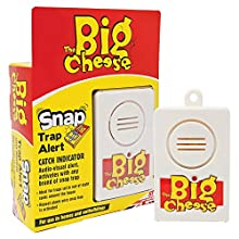 The Big Cheese Snap Trap Alert (Battery-Operated, Audio-Visual Catch Indicator, Use with Rodent Pest Snap Traps, Suitable for Use in Homes and Outbuildings)