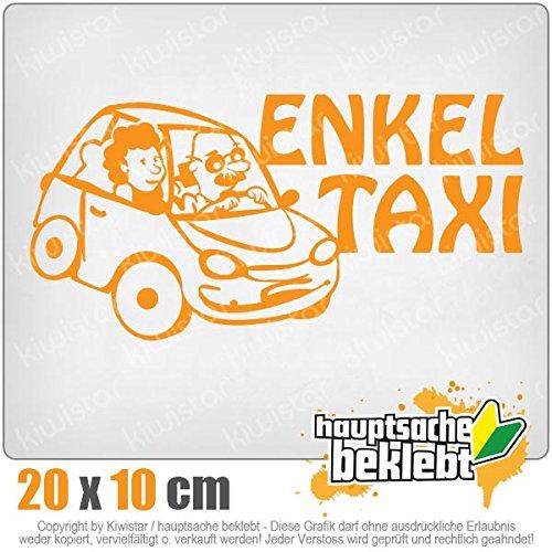 Kiwistar Petits-Enfants Taxi Grands-Parents Enfants Jeunes Filles 20 X 10 Cm en 15 Couleurs – Fluo + Chrome. Autocollant
