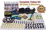 Tattoo-Set für Anfänger MZ 2 Tattoo-Maschinen Dual-Netzteil 20 Tattoo-Nadeln 28 Farbtinten Tattoo-Kits für Anfänger