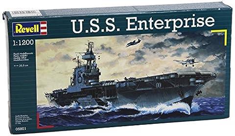 Revell Modellbausatz 05801 - U.S.S. Enterprise im Maßstab 1:1200