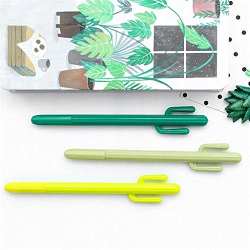 LUCKYCAT,prime day amazon Office Fournitures scolaires Mignon Cactus Stylo gel Stylo à bille Cadeau 2018 (au hasard)