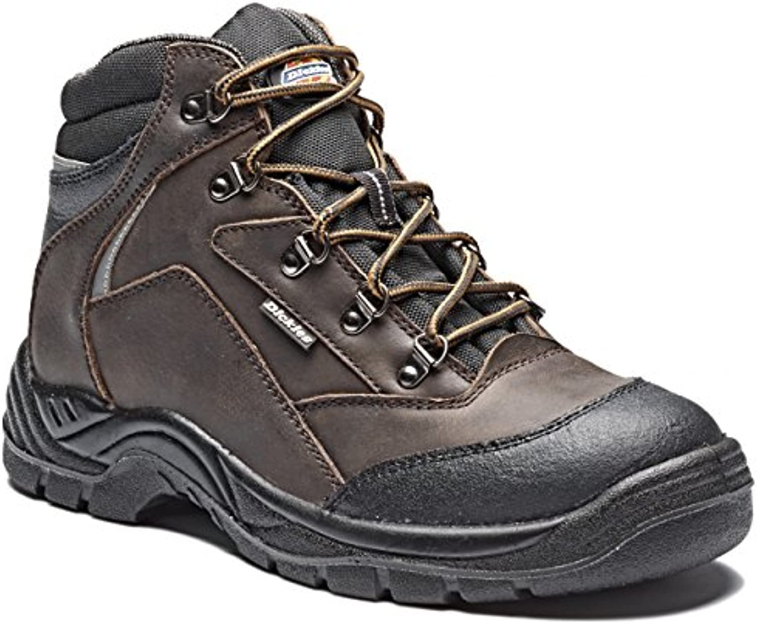 Dickies Mens Davant Work Safety Steel Toe Cap Midsole Leather Boots