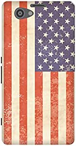 The Racoon Lean Vintage American Flag hard plastic printed back case / cover for Sony Xperia Z1 Compact