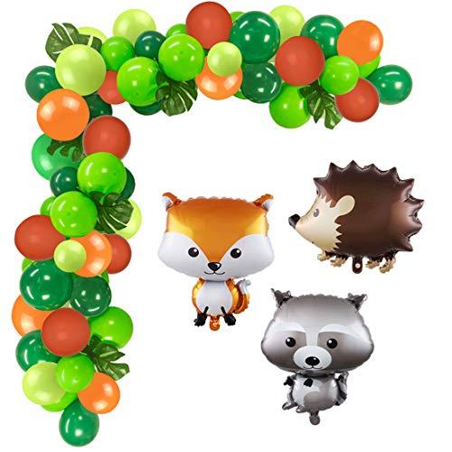 Fangleland Woodland Party Dekoration Lieferungen Waldtiere Luftballons für Baby Shower Woodland Creatures Geburtstagsfeier