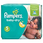 Pampers Baby Dry Windeln, Gr.5 (Junio...