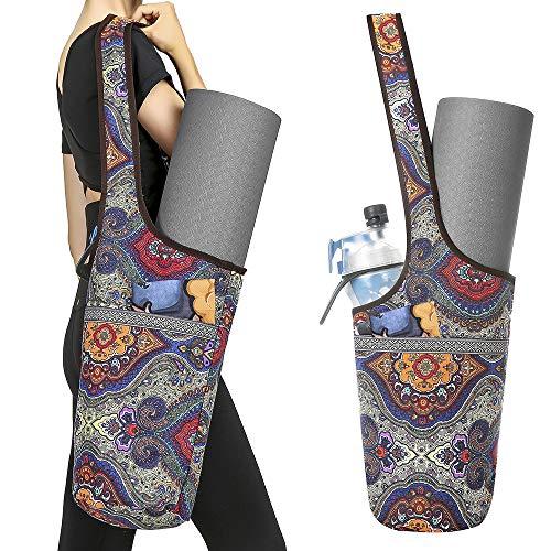 S SUNINESS Yogamatte Tasche - mit großer Tasche und Reißverschluss Tasche, passend für die meisten Größe matten (Totem)