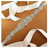 Shinybeauty Strass-Kristall-Applikation, Braut-Kopfschmuck für Hochzeiten, RA124, Ivory RA122, 45.0cmx5.5cm