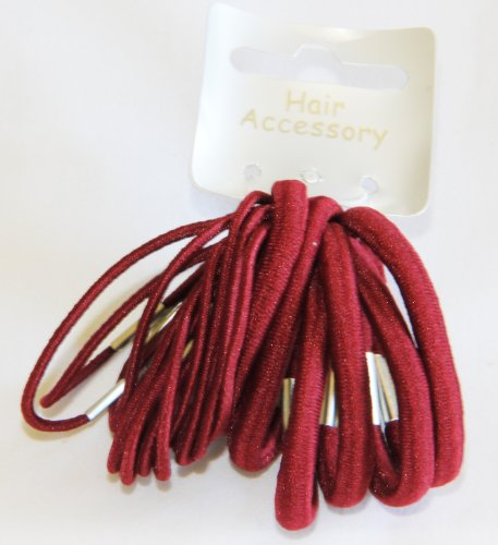 18 mixed Burgundy elastics