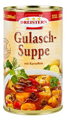 Preisvergleich Produktbild Dreistern Gulaschsuppe mit Kartoffeln,  1200 ml (Gulasch,  Eintopf,  Suppe,  herzhaft,  Rindfleisch,  Kartoffeln)