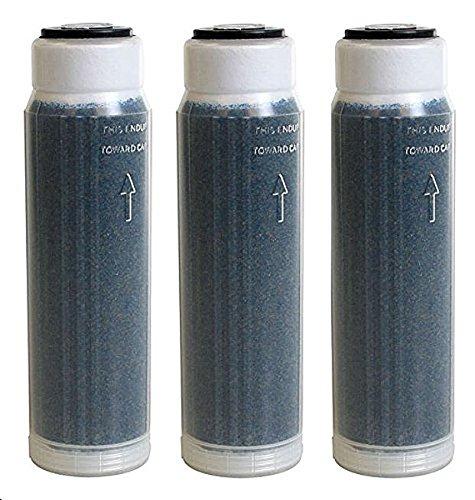 "Aquatic Life Reverse Osmosis Deionization (RODI) 10"" Color Indicating Mixed Bed DI Resin Cartridge 3-Pack. Filled with Resintech MBD-30-NG Nuclear Grade Mixed Bed Resin"