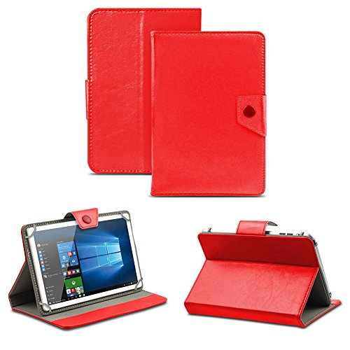NAUC Universal Tasche Schutz Hülle Tablet Schutzhülle Tab Case Cover Bag Etui 10 Zoll, Farben:Rot mit Magnetverschluss, Tablet Modell für:Allview Wi10N Pro 10.1