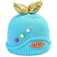 QHDZ Winter niedlichen Hut gestrickte Beanie häkeln Rippe Hut