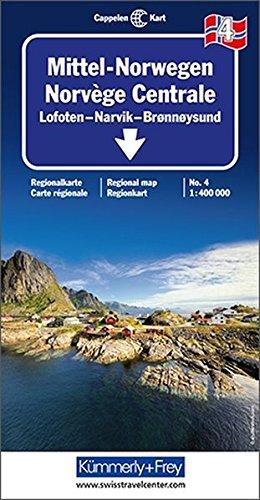 Norway Central - Lofoten / Narvik / Bronnoysund 2018: Boda, Narvik Pt. 3 (Regional Maps - Norway) por Kümmerly + Frey