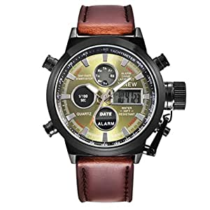Jamicy® Mens Quartz Sport Military Army LED Watches Analog Stainless Steel Wrist Watch