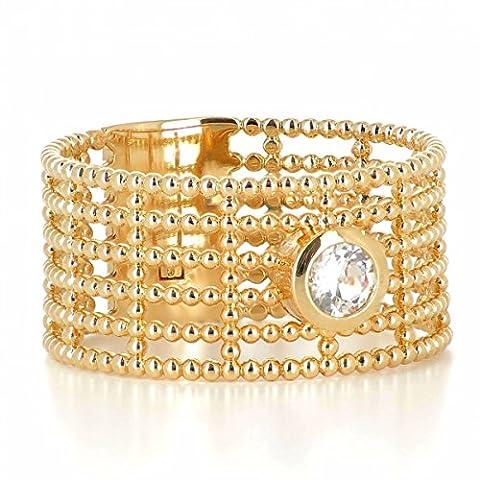 ISADY - Colleen Gold - Bague femme - Plaqué Or 750/000 (18 carats) - Oxyde de Zirconium