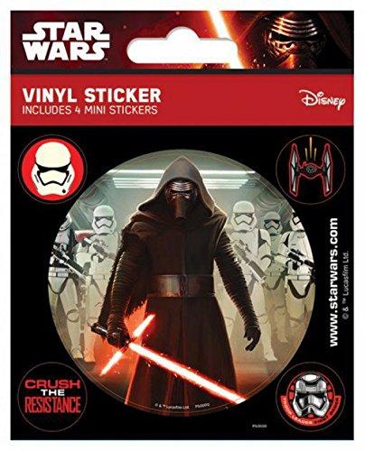 Preisvergleich Produktbild 1art1 90065 Star Wars - Das Erwachen Der Macht Episode VII,  Kylo Ren Poster-Sticker Tattoo Aufkleber 12 x 10 cm