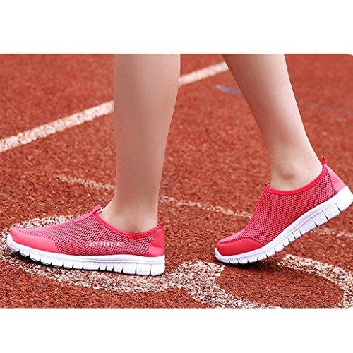Eagsouni® Unisex-Erwachsene Sommer Breathable Mesh Schuhe Laufschuhe Strandschuhe athletische Turnschuh Rot