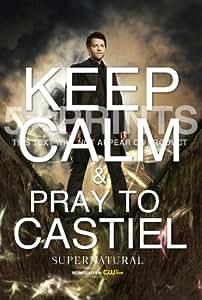 "Supernatural Castiel Misha Collins Keep Calm 12x8"" Poster Photo Perfect Gift"