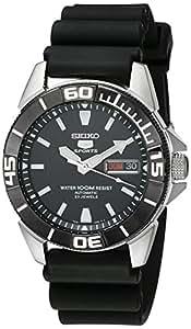 Seiko - SNZE19K1 - 5 Sports - Montre Homme - Automatique Analogique - Cadran Noir - Bracelet Caoutchouc Noir