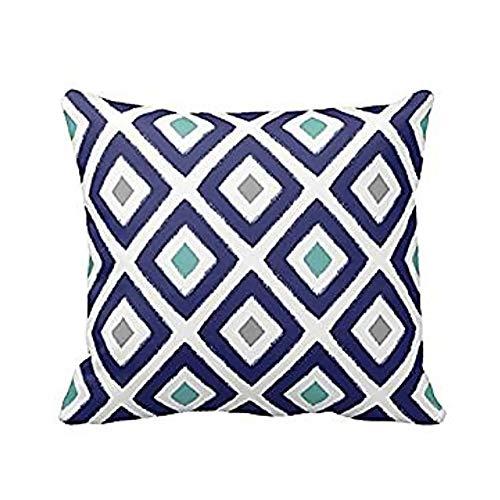 Songrong Floral Wurf Pillowcase Diamant Muster Kissen Abdeckung Geometrisches Quadrat Couch Fall Haltbarer Leinen Kissenbezug Küchenzubehör -