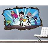 Teen Titans Muursticker Actie Muurtattoo Kids Nail Art 3D Sticker Art Vinyl