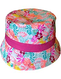Fille d'été en coton Chapeau de soleil–Flamingo Pattern Age 4–6/7–10