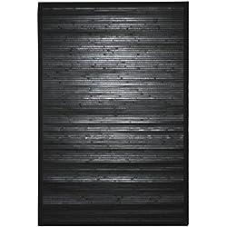 Thedecofactory 128252 - Alfombra (bambú, 170 x 120 x 1,5 cm), Color Negro