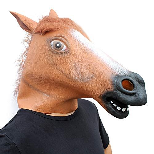 Yuepin Halloween Maske, Neuheit Launisch Halloween Kostüm Party Tierkopf Maske Braunes Pferd (Halloween-party Für Leichte Eine Speisen)