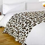 Dreamscene Animal Fleece Blanket, Leopard, 120 x 150 Cm
