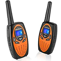 Wishouse Two Way Radios for Adults Travel, PMR446 Walkie Talkies with Vox Mic Clip LCD Screen Long Mile Range 0.5w 8 Channels Noise Cancelling Wakie-Talkie for Home Outdoor Games