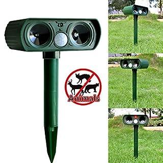 Ahatech RC-510 Katzenschreck Outdoor Solar Hundefahrer Ultraschall Infrarot Laufwerk Katze Laufwerk Vogel Repeller(grün)