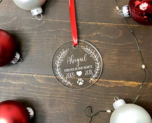 For367Walton - Adorno conmemorativo para Mascotas, Regalo conmemorativo para Perro, Recuerdo de Perro, Recuerdo de Navidad, Regalo para la pérdida de Mascotas, años Personalizados