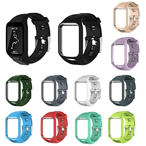 Replacement Watch band For TomTom Runner 2/3 Series Watch Silicone Watch Strap
