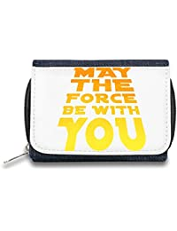 May The Force Be With You Monedero de Cremallera Bolso Zipper Wallet| The Stylish Pouch To Keep Everything Organized| Ideal For Everyday Use & Traveling| Authentic Accessories By Hamerson