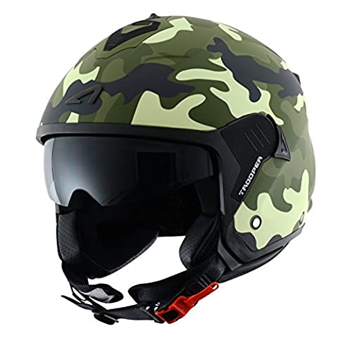 Astone Helmets Casque Jet Mini Trooper, Verde (Mat Camo Army), L