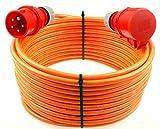 netbote24® CEE Starkstromkabel Verlängerungskabel 16A 400V Pur-Leitung H07BQ-F 5g1,5 Außen 5m
