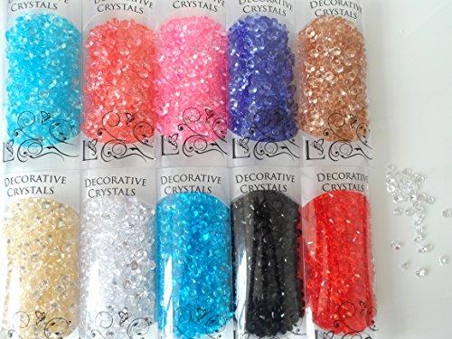Light Blue Plastic Bowls (Acryl Diamant Form Kristalle in einer klar Pack in vielen Farben-Zeigt, Handwerk, Hochzeit oder Vasen, plastik, blau, 1x1cm)