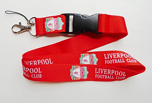 Liverpool FC Schlüsselbänder Schlüsselanhänger Halter mit Schnellverschluss (Retail Verpackung), rot