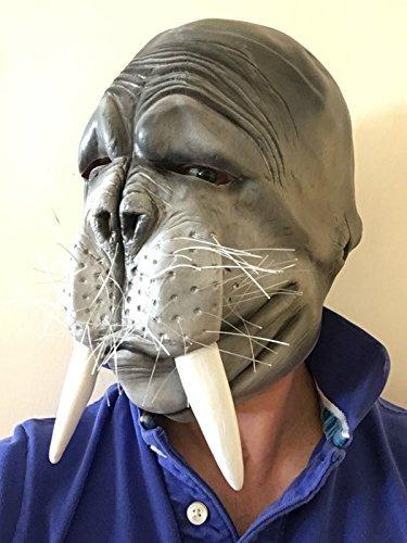 Rubber Johnnies TM WALROSS Latex Maske Tiermaske Verkleidung Kostümparty Herrenabend Damenabend Fisch Zu Versiegeln